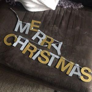 pretty festive glitter Merry Christmas banner🎅🏼